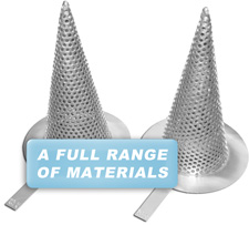 A Full Range of Materials are available, including these Titanium Temporary Strainers