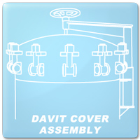 Davit Cover Assembly Illustration