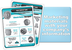 Titan FCI provides marketing materials for Titan products with your company name, logo, and contact information.